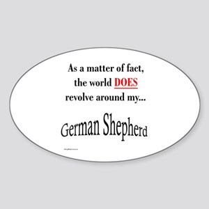 German Shepherd World Oval Sticker