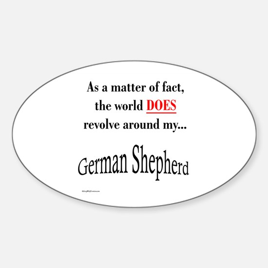 German Shepherd World Oval Decal