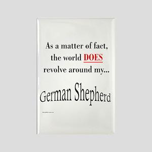 German Shepherd World Rectangle Magnet