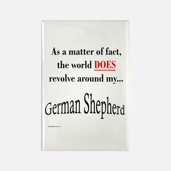 German Shepherd World Rectangle Magnet