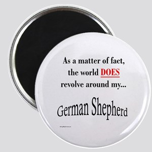 German Shepherd World Magnet