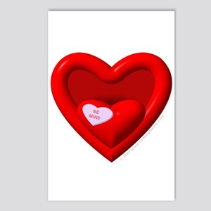 """'Be Mine"""" Candy Heart Postcards (Package of 8)"""