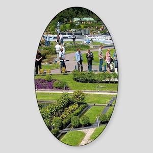 The miniature city of Madurodam at  Sticker (Oval)