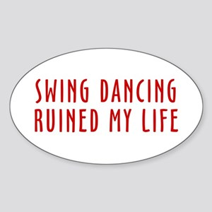Ruined Life Oval Sticker