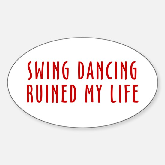 Ruined Life Oval Decal