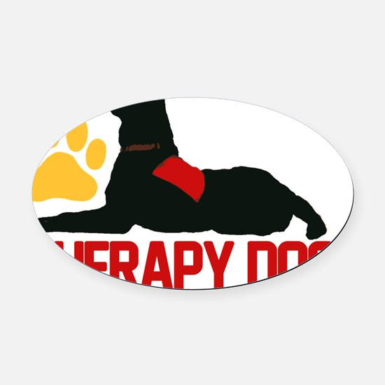 redtherapy Oval Car Magnet
