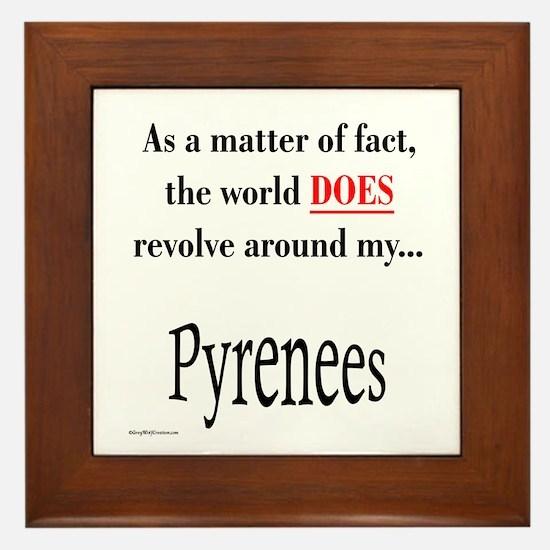 Pyrenees World Framed Tile