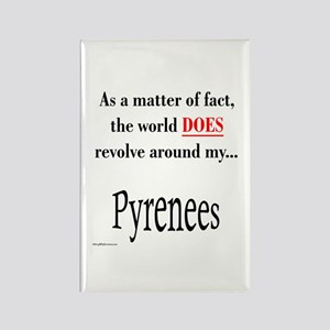 Pyrenees World Rectangle Magnet