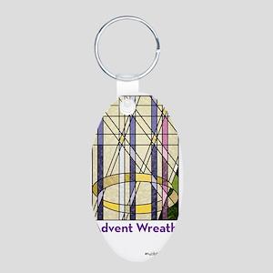 AdventWreath06Bottle Aluminum Oval Keychain