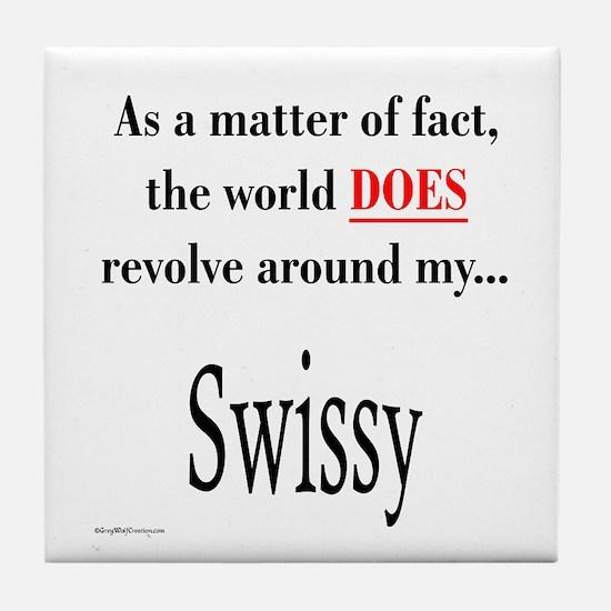 Swissy World Tile Coaster