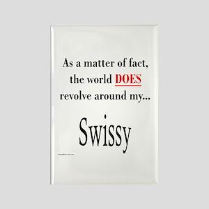Swissy World Rectangle Magnet