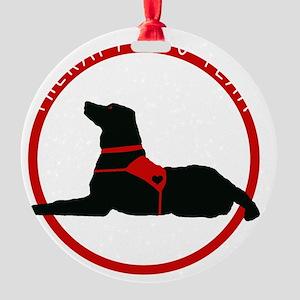 therapydogteamwhite Round Ornament