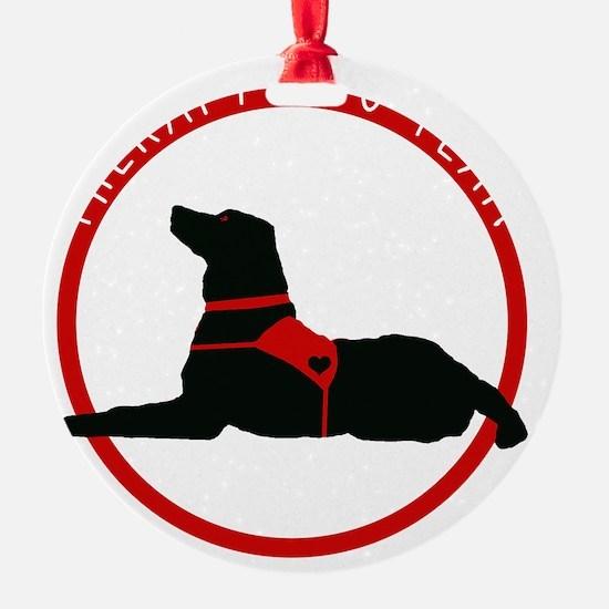 therapydogteamwhite Ornament