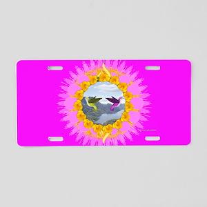 Hummingbird World Aluminum License Plate