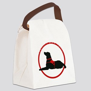 therapydogteamwhite Canvas Lunch Bag