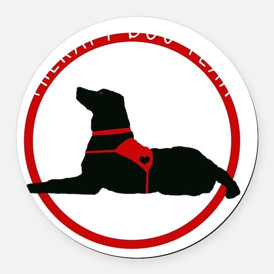 therapydogteamwhite Round Car Magnet