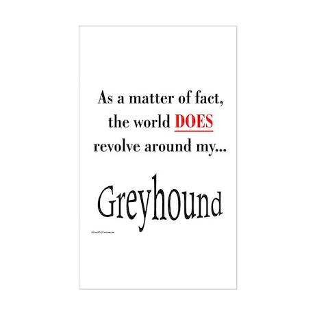 Greyhound World Rectangle Sticker