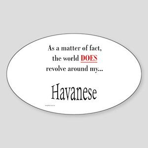 Havanese World Oval Sticker
