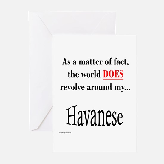 Havanese World Greeting Cards (Pk of 10)