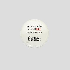 Havanese World Mini Button