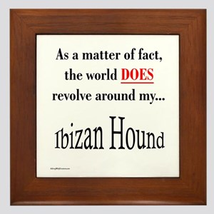 Ibizan World Framed Tile