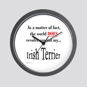 Irish Terrier World Wall Clock