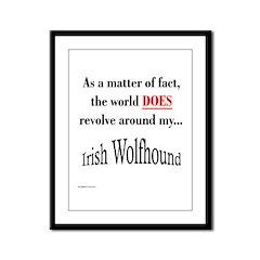 Wolfhound World Framed Panel Print