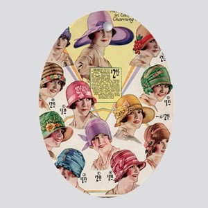 20s hats Oval Ornament