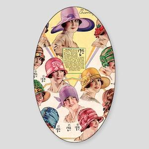 20s hats Sticker (Oval)