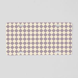 Shoulder Bag Front Diamond  Aluminum License Plate