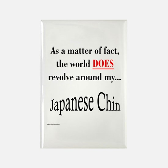Chin World Rectangle Magnet