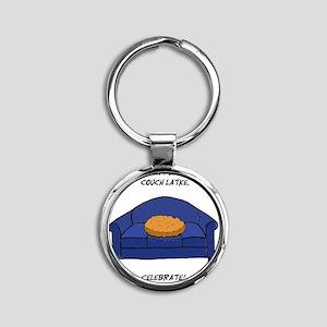 Couch Latke Round Keychain