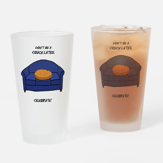 Couch Latke Drinking Glass