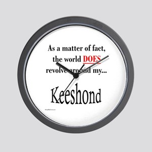 Keeshond World Wall Clock