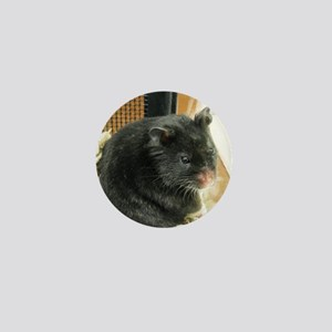 Black Hamster Mini Button