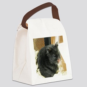 Black Hamster Canvas Lunch Bag