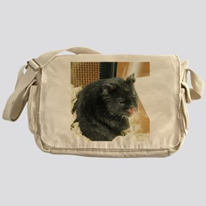 Black Hamster Messenger Bag