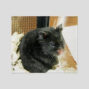 Black Hamster Throw Blanket
