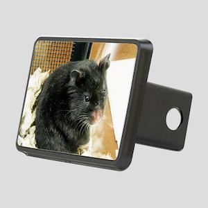 Black Hamster Rectangular Hitch Cover