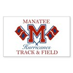 Hurricanes Track & Field Rectangle Sticker