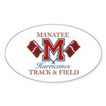 Hurricanes Track & Field Oval Sticker