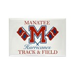 Hurricanes Track & Field Rectangle Magnet (100 pac