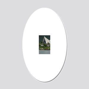Tromso. Gateway to the Arcti 20x12 Oval Wall Decal