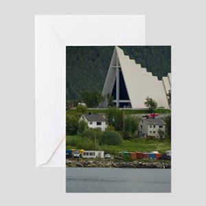 Tromso. Gateway to the Arctic locate Greeting Card
