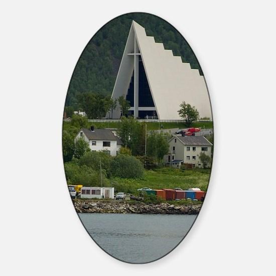 Tromso. Gateway to the Arctic locat Sticker (Oval)