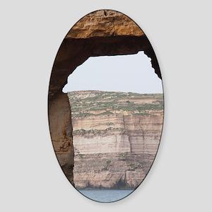 Malta, Gozo Island, Dwejra, Azure W Sticker (Oval)