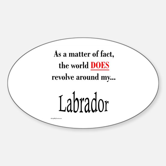 Lab World Oval Decal