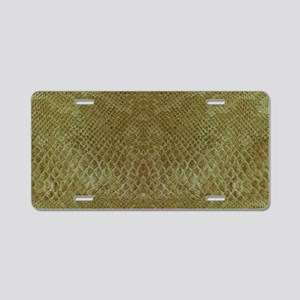 Lizzard Shoulder Bag F B Aluminum License Plate