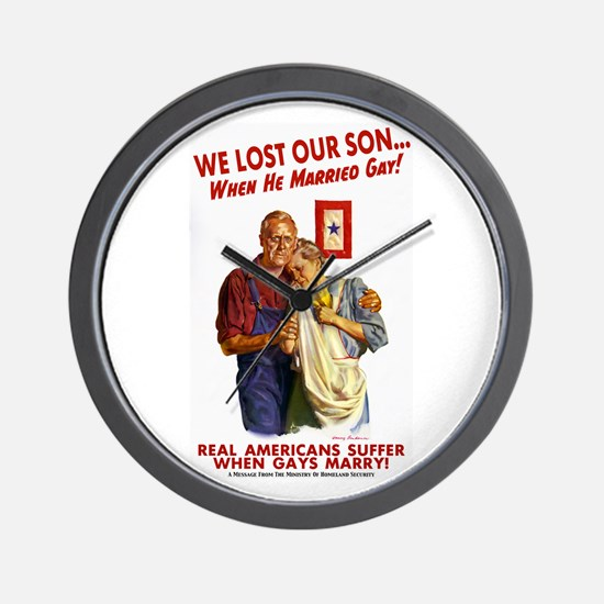 Our Son Married Gay! Wall Clock