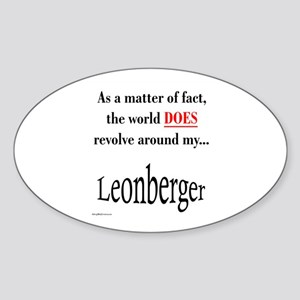 Leonberger World Oval Sticker